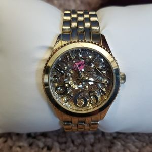 Betsey Johnson Gold Glitter Watch